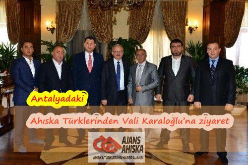 Antalyada Ahıska Türklerinden Vali Karaloğlu'na ziyaret