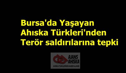 Bursa'da Yaşayan Ahıska Türkleri'nden terör saldırılarına tepki