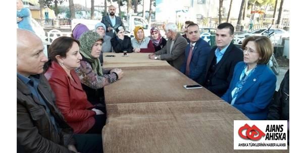Aydın Mhp Yurtlarından Sürgün Edilen Ahıska Türklerini Ziyaret Etti