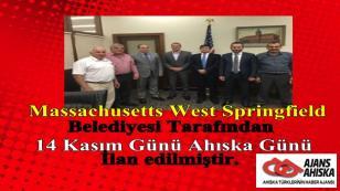 Massachusetts West Springfield Belediyesi Tarafından Ahıska Günü İlan edildi