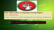 Ahlat Kafkas Kültür ve Dayanışma Derneği Baş.'dan Ahıska Türkleri Açıklaması