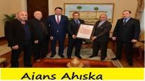 Antalya Valisi Muammer Türker, Akdeniz Ahıskalı Türkler Birliği Üyeleri ni Kabul Etti