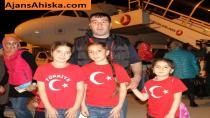 Ukrayna'dan Ahıska Türklerinin üçüncü kafilesi Erzincana geldi