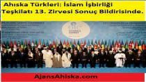 Ahıska Türkleri: İslam İşbirliği Teşkilatı 13. Zirvesi Sonuç Bildirisinde