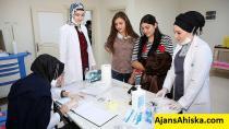Erzincana Gelen 3.Kafile Ahıska Türkleri sağlık taramasından geçiriliyor