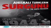 İstanbulda Ahıska Türklerinin Sürgün Edilişlerinin 72.Yılı anma Programı