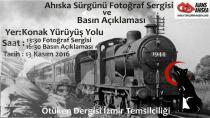 İzmir'de  'Ahıska Sürgünü Fotoğraf Sergisi ve Basın Açıklaması'