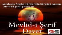 Antalyada Ahıska Türklerinin Sürgünü anısına  Mevlid-i Şerif  programı