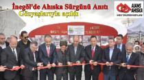 İnegöl'de Ahıska Sürgünü Anıtı gözyaşlarıyla açıldı