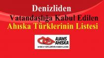 Denizliden Vatandaşlığa Kabul Edilen Ahıska Türklerinin Listesi