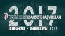 2017 TÜRKİYE BURSLARI LİSANSÜSTÜ BAŞVURULARI