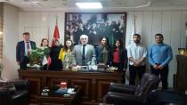 Ahıska Türk'ü Üniversite Öğrencileri Müftü KÜÇÜK'ü Ziyaret Ettiler.