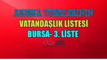 Ahıska Türkleri Vatandaşlık Bursa 3.Liste