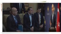 Dışişleri Bakanı Mevlüt Çavuşoğlu, Dünya Ahıska Türkleri Birliği (DATÜB) üyelerini kabul etti.