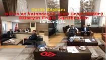 Datüb Başkanı Nüfus ve Vatandaşlık İşleri Genel Müdürü Hüseyin Engin Sarıibrahim ile Görüştü